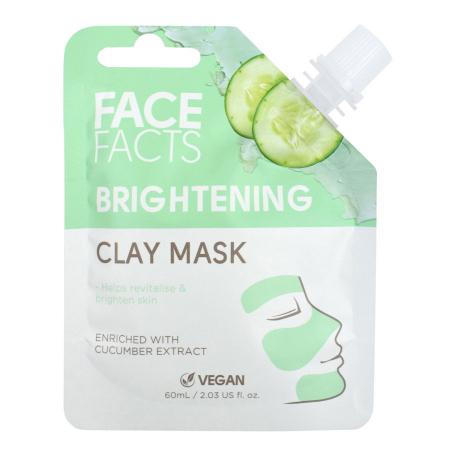 Masca Faciala cu extract de Castravete FACE FACTS Clay Mask, pentru Luminozitate si Revigorare, 60 ml