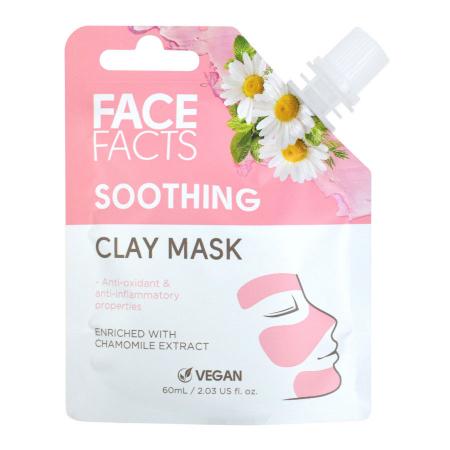 Masca Faciala Calmanta cu Musetel FACE FACTS Clay Mask cu proprietati Anti-Inflamatoare si Antioxidanti, 60 ml