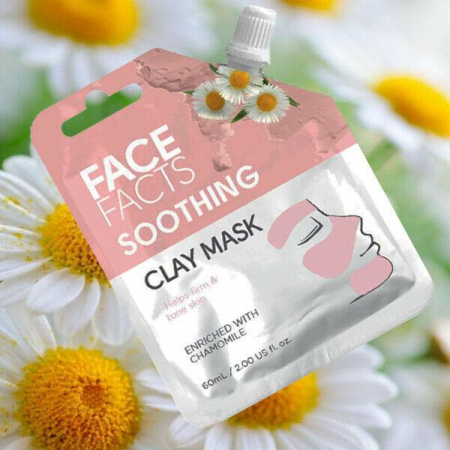 Masca Faciala Calmanta cu Musetel FACE FACTS Clay Mask cu proprietati Anti-Inflamatoare si Antioxidanti, 60 ml1