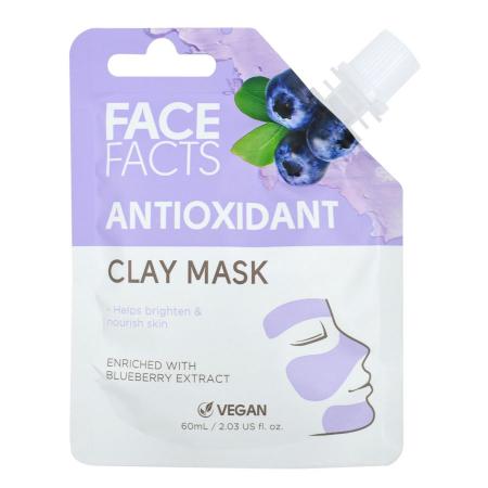 Masca Faciala Antioxidanta cu Afine FACE FACTS Clay Mask, imbogatita cu Vitamina C, 60 ml