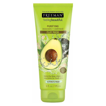Masca hranitoare si purificatoare FREEMAN Purifying Avocado + Oatmeal Clay Mask, 175 ml0
