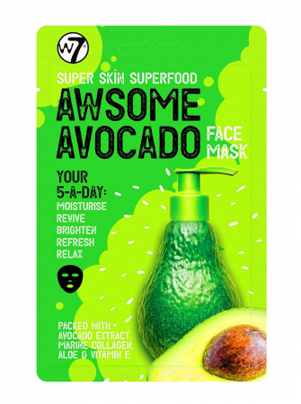Masca hranitoare W7 Super Skin Superfood Awsome Avocado Face Mask, 18 g