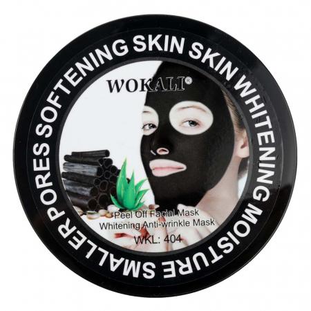 Masca neagra pentru indepartat punctele negre, punctele de grasime, efect anti-rid, Wokali cu carbune activ, 300 g1