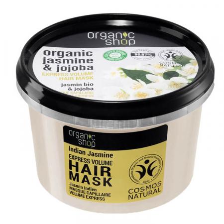 Masca pentru par cu Iasomie Indiana si Ulei de Jojoba, Organic Shop Hair Mask, Ingrediente 98.67% Naturale, 250 ml