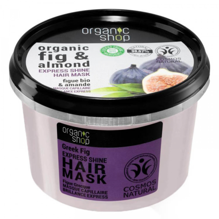 Masca pentru par cu Smochine Grecesti si Migdale, Organic Shop Hair Mask, Ingrediente 98.67% Naturale, 250 ml