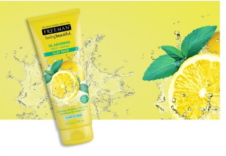 Masca pentru tenul gras FREEMAN Oil Absorbing Mint + Lemon Clay Mask, 175 ml5