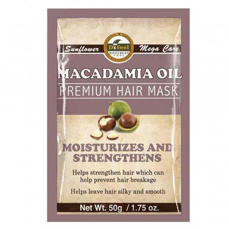 Masca premium pentru par Difeel din Ulei de Macadamia pentru intarirea si hidratarea firului de par, 50 g0