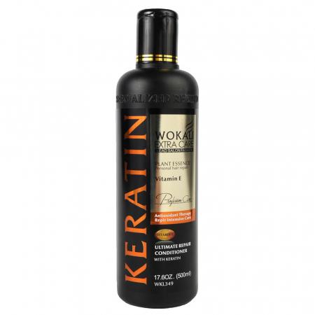 Balsam tratament pentru par degradat cu KERATINA si Vitamina E, Wokali Extra Care, 500 ml