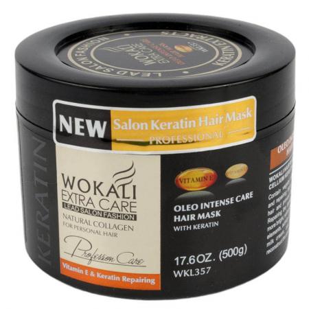 Masca Profesionala pentru Par cu KERATINA, Colagen si Vitamina E, Wokali Extra Care SALON, 500 g2
