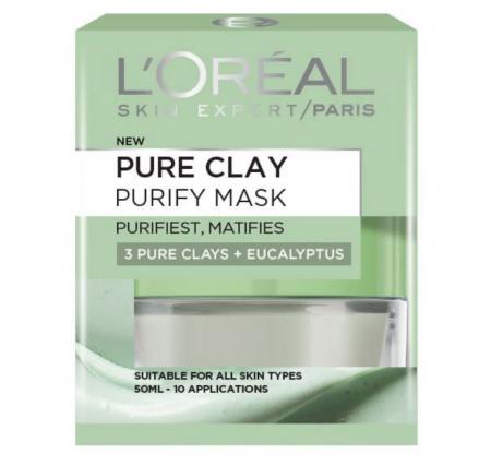 Masca purifianta pentru matifierea tenului cu extract de eucalipt L'Oreal Paris Pure Clay, Purity Mask, 50 ml4