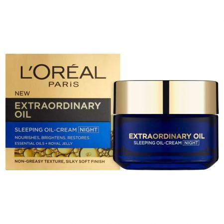 Masca regeneranta de noapte cu uleiuri esentiale L'Oreal Paris Extraordinary Oil, 50 ml