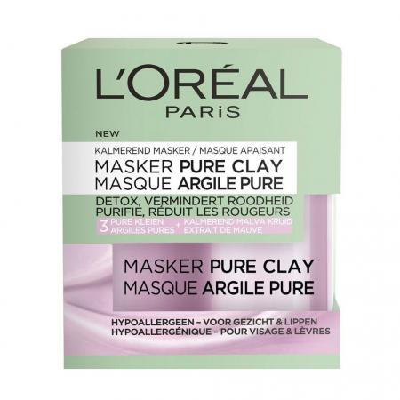 Masca detox anti-roseata, reduce excesul de sebum, ten sensibil, L'Oreal Paris Pure Clay, 50 ml4
