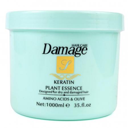 Masca tratament pentru par degradat cu KERATINA, Amino-Acizi si Ulei de Masline, Damage Hair Care, 1000 ml