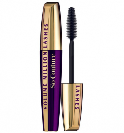Mascara L'Oreal Paris Volume Million Lashes So Couture, Black, 9.5 ml