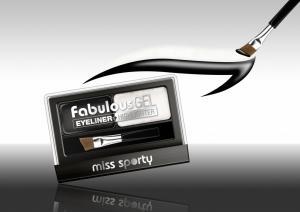 Paleta Tus De Ochi Si Iluminator Miss Sporty Fabulous Gel, Black & White1