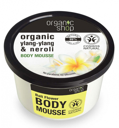 Mousse delicios pentru corp cu Floare Bali & Apa florala de Neroli, Organic Shop Body Mousse, Ingrediente 99% Naturale, 250 ml