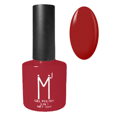 Oja semipermanenta 3 in 1, MJ Gel Polish, Nuanta 026 Pure Red, 10 ml