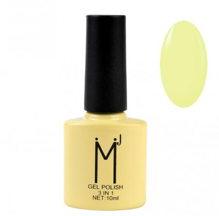 Oja semipermanenta 3 in 1, MJ Gel Polish, Nuanta 073 Yellow Mystery, 10 ml