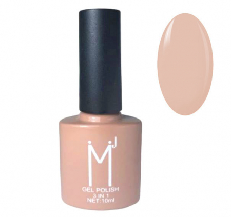 Oja semipermanenta 3 in 1, MJ Gel Polish, Nuanta 064 City Nude, 10 ml