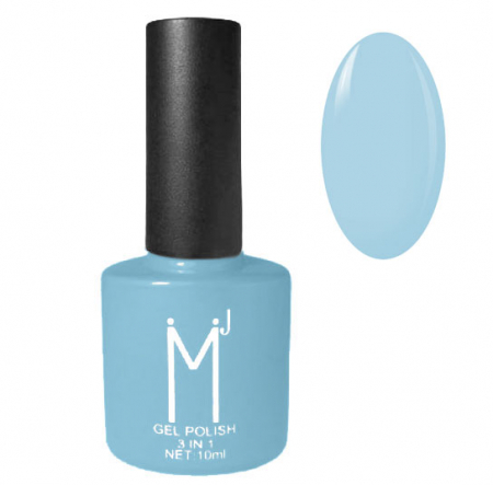 Oja semipermanenta 3 in 1, MJ Gel Polish, Nuanta 048 Blue Sky, 10 ml