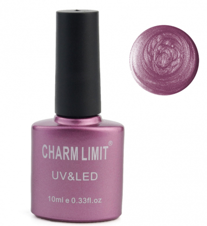 Oja semipermanenta cu aspect metalic CHARM LIMIT Gel Polish UV & LED, Nuanta 031 Purple Galaxy, 10 ml