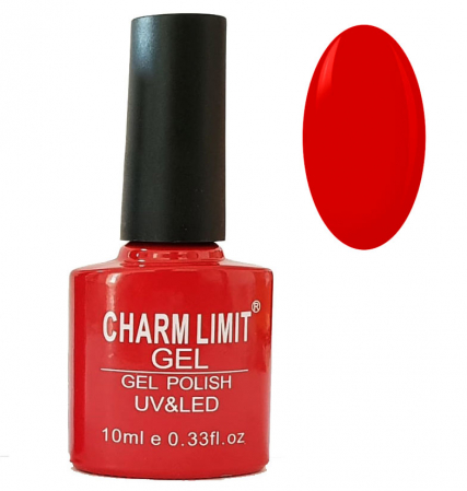 Oja semipermanenta CHARM LIMIT Gel Polish UV & LED, Nuanta 014 Cherry Red, 10 ml
