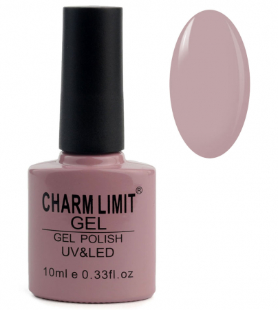 Oja semipermanenta CHARM LIMIT Gel Polish UV & LED, Nuanta 102 Delicate purple, 10 ml