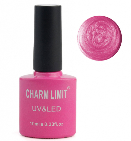 Oja semipermanenta cu asect sidefat CHARM LIMIT Gel Polish UV & LED, Nuanta 057 Sparkle Candies, 10 ml