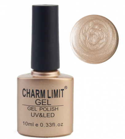 Oja semipermanenta cu aspect metalic CHARM LIMIT Gel Polish UV & LED, Nuanta 076 Milky Way, 10 ml