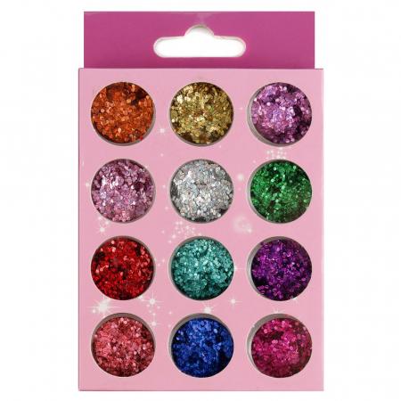Paiete pentru unghii, set 12 bucati, 05 Summer Colors