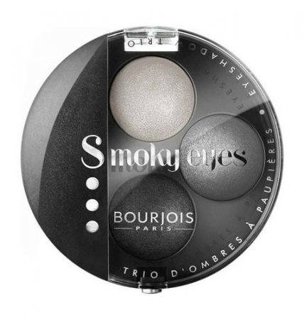 Paleta 3 Farduri Bourjois Paris Smoky Eyes - 01 Gris Dandy, 4.5 g0