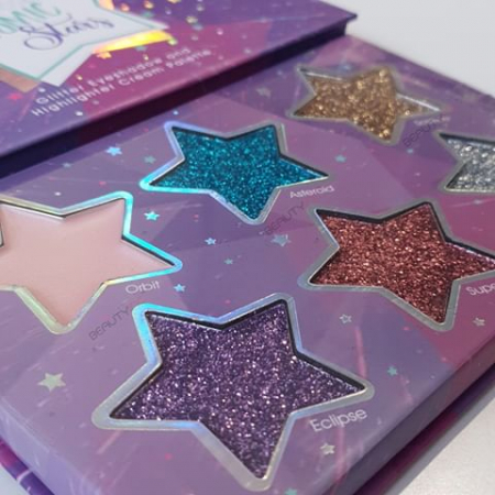 Paleta Glittere si Iluminator SUNKISSED Cosmic Stars Glitter1