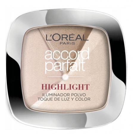 Paleta Multifunctionala cu Iluminatoare L'Oreal Paris Accord Parfait HIGHLIGHT, 202 N Rosy Glow, 9 g
