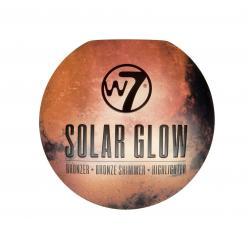 Paleta cu Iluminatoare Bronzante W7 Solar Glow Bronzer Shimmer & Highlighter, 3x3g