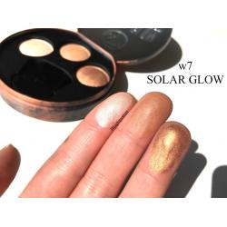 Paleta cu Iluminatoare Bronzante W7 Solar Glow Bronzer Shimmer & Highlighter, 3x3g3