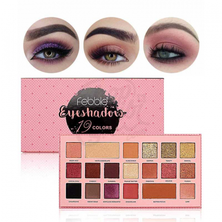 Paleta de farduri Febble Eyeshadow, 19 Colors