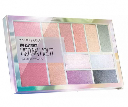 Paleta multifunctionala pentru pleoape si pometi Maybelline New York City Kits, Urban Light, 12 g