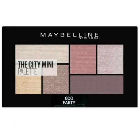 Paleta Farduri MAYBELLINE New York The City Mini Palette, 600 Party