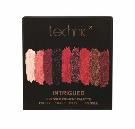 Paleta Farduri TECHNIC Pressed Pigment Palette, Intrigued, 9 culori2