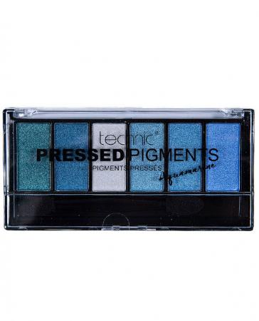 Paleta de Farduri TECHNIC Pressed Pigments Palette, Aquamarine, 6 culori2
