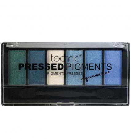 Paleta de Farduri TECHNIC Pressed Pigments Palette, Aquamarine, 6 culori