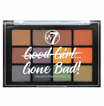 Paleta Farduri W7 Good Girl Gone Bad Pressed Pigment Palette, Gone Bad