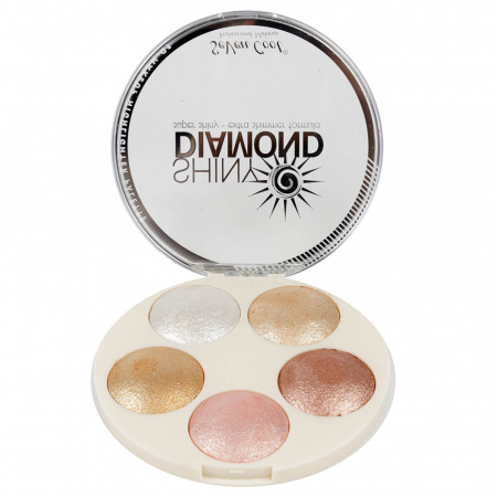 Paleta Profesionala Iluminatoare, Shiny Diamond 5 Color Highlighter Palette 3D, 15 g1