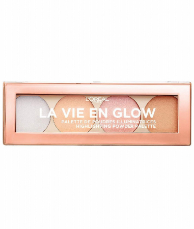 Paleta Iluminatoare L'Oreal Paris La Vie En Glow Highlighting Powder Palette 2, Cool Glow, 15 g