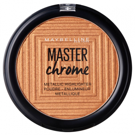 Paleta Iluminatoare Maybelline New York Master Chrome Metallic, 150 Molten Bronze, 9 g0
