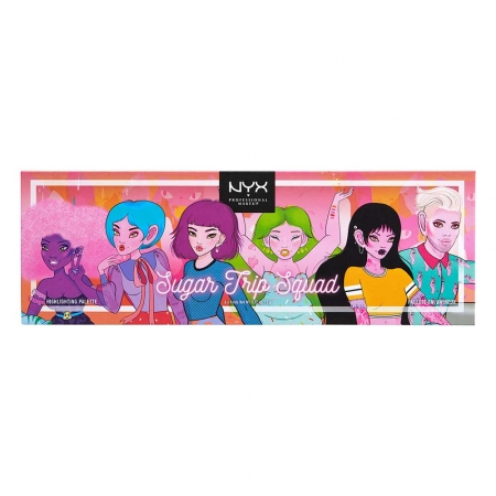 Paleta Iluminatoare NYX Professional Sugar Trip Squad Highlighting Palette Limited Edition2