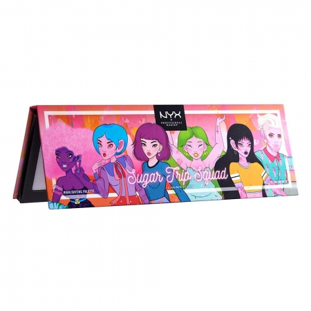 Paleta Iluminatoare NYX Professional Sugar Trip Squad Highlighting Palette Limited Edition3
