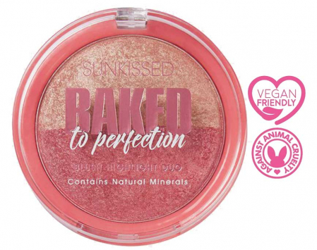 Paleta Iluminatoare Duo SUNKISSED Baked to Perfection Blush, 17 g3