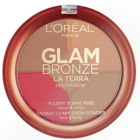 Paleta L'Oreal Glam Bronze La Terra Healthy Glow, 01 Light Laguna, 6g0