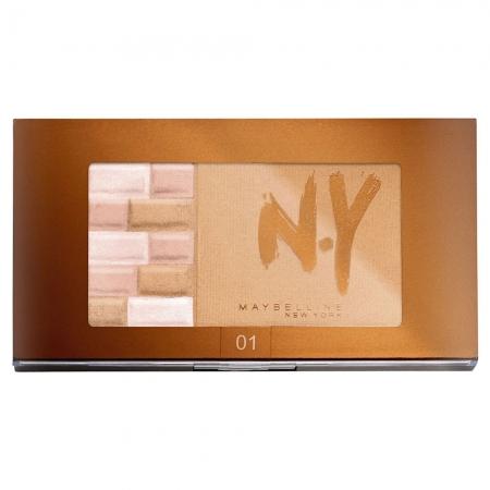 Paleta Pentru Bronz Si Iluminare Maybelline FaceStudio Bricks Bronzer - 01 Blondes, 7 gr